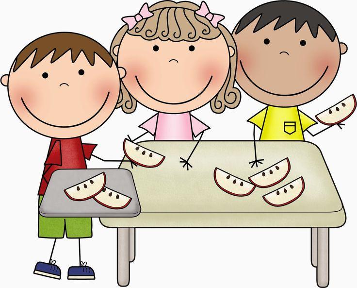 Snack Time Preschool Clipart