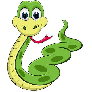 cute snake clipart black and