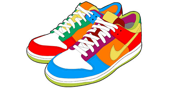 Sneaker running shoes clipart free clipart image image