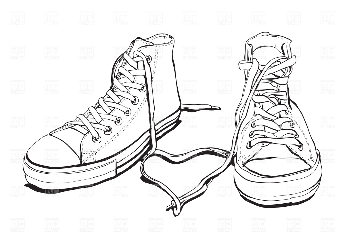Sneakers 1941 Beauty Fashion Download Royalty Free Vector Clipart
