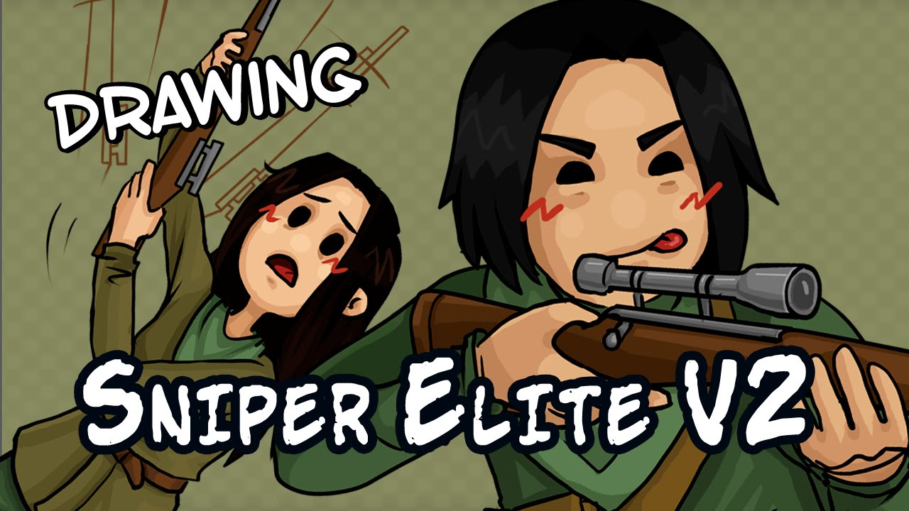 Drawing Sniper Elite V2 with commentary!