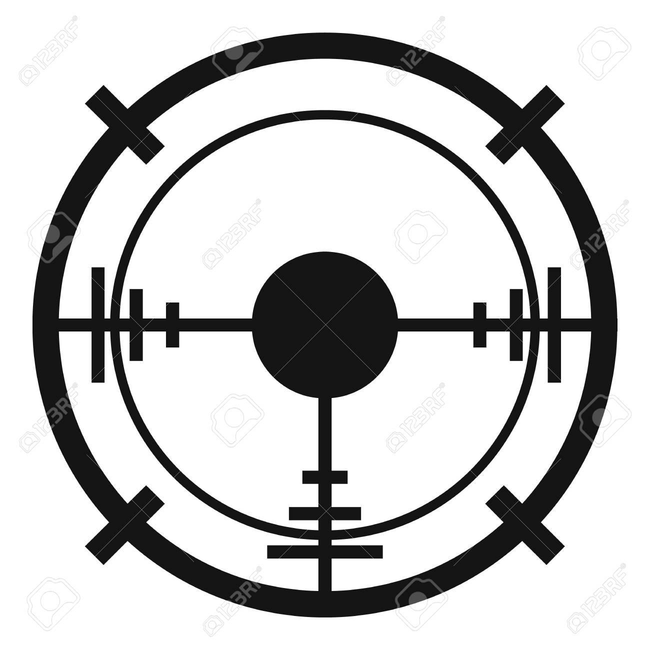 Sniper elite aim icon. Simple illustration of sniper elite aim vector icon  for web design
