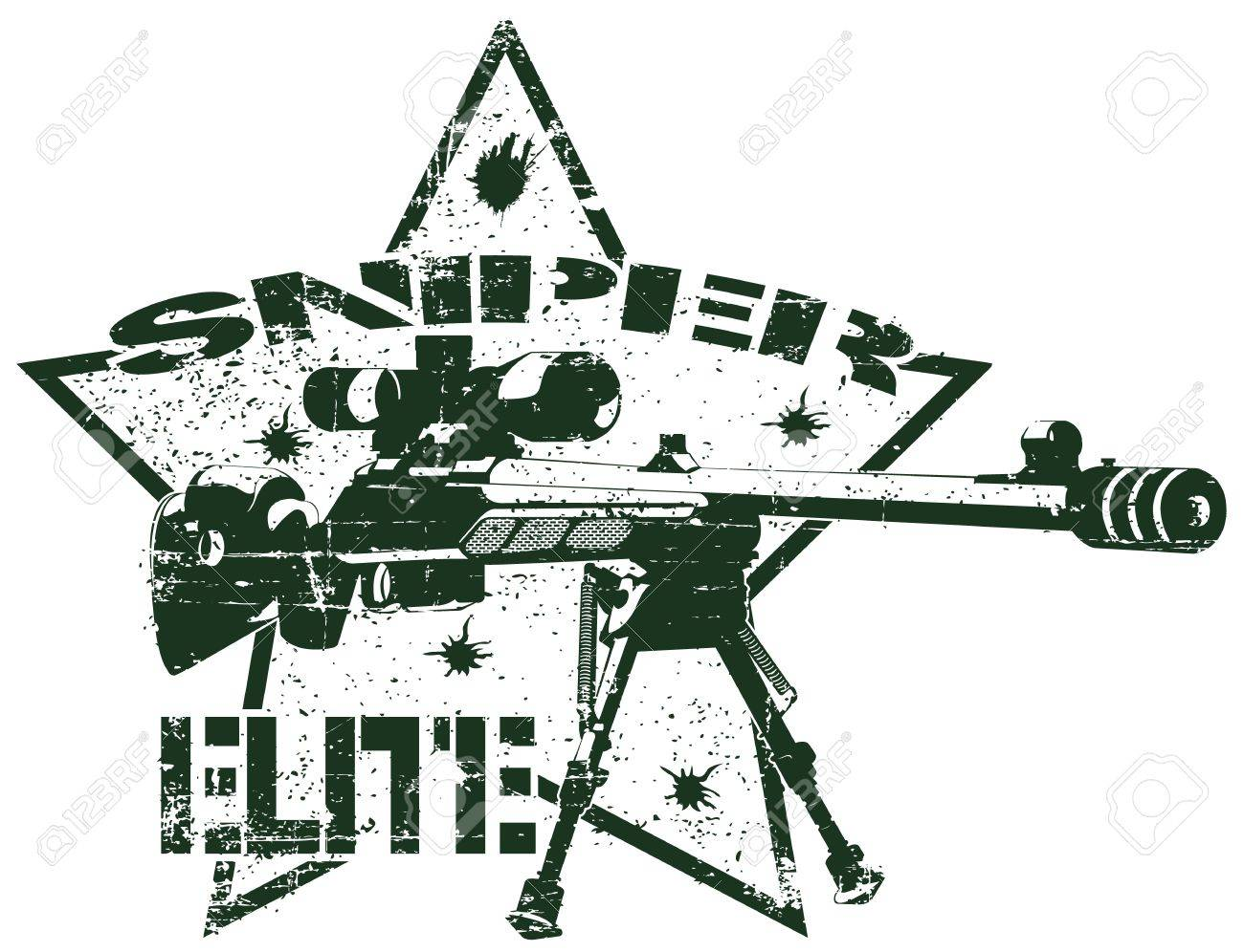 The image of Sniper elite stamp Stock Vector - 15367875