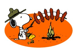 Snoopy camping clipart
