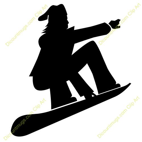snowboard clipart #12072