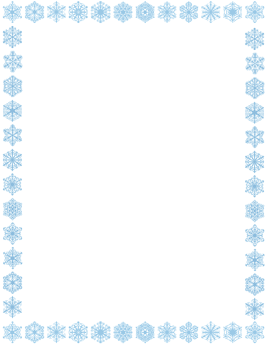 Snowflake Border Page Clipart