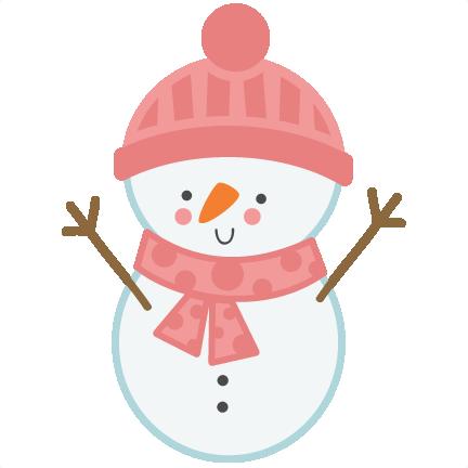 432x432 Girl Snowman SVG scrapbook cut file cute clipart files for