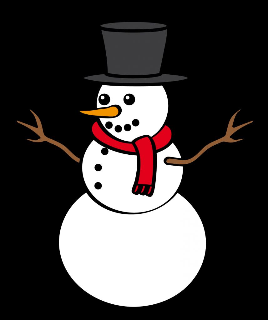Snowman clipart 5