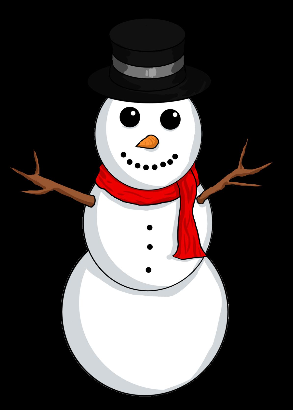 Snowman clipart free illustration image