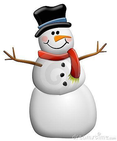 Smiling Snowman Clip Art 2 Stock Photography Image 3425162
