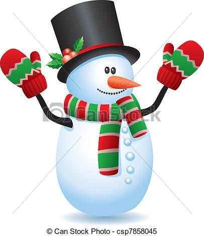 Snowman In Winter Landscape Clipartby benchart51/1,557 snowman - vector  illustration of snowman