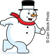Snowman Walking Clipartby ClipartLook.com
