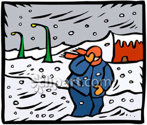 Snowstorm Clipart Blizzard Clipart Man Walking In A Blizzard Royalty