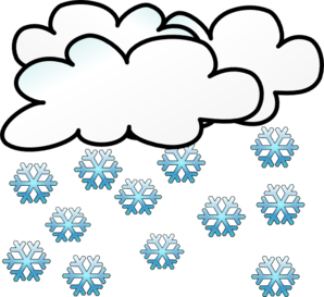 Snowfall clipart snowy weather #2
