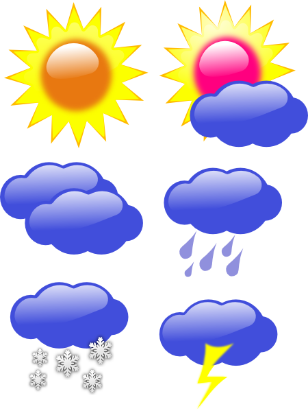 Snowy weather clipart free .
