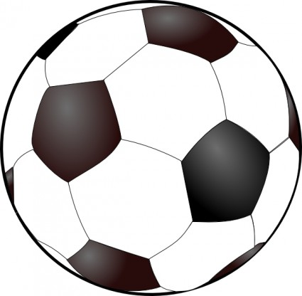 Soccer ball clip art free vector in open office drawing svg svg 3