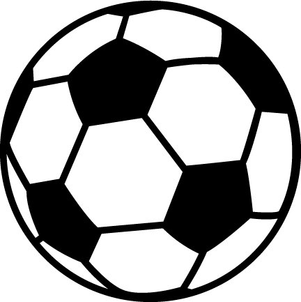 Pink soccer ball clipart free .
