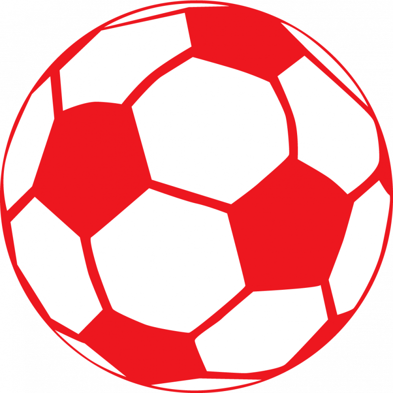 Red Soccer Ball Clipart #1