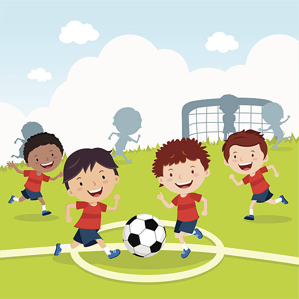 Playing Soccer Clip Art 69
