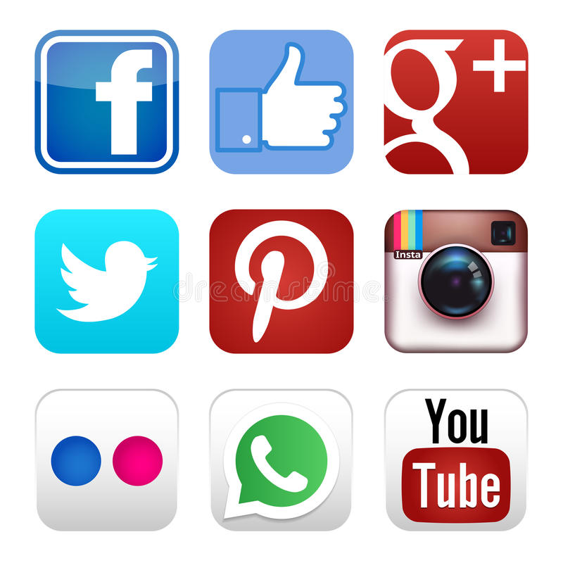 Social Icons Clipart Social media icons editorial image. Illustration of medium -  51519530
