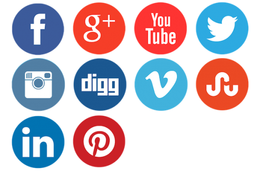 Social Media - Social Icons Clipart
