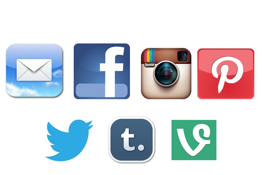 Social media icon clipart