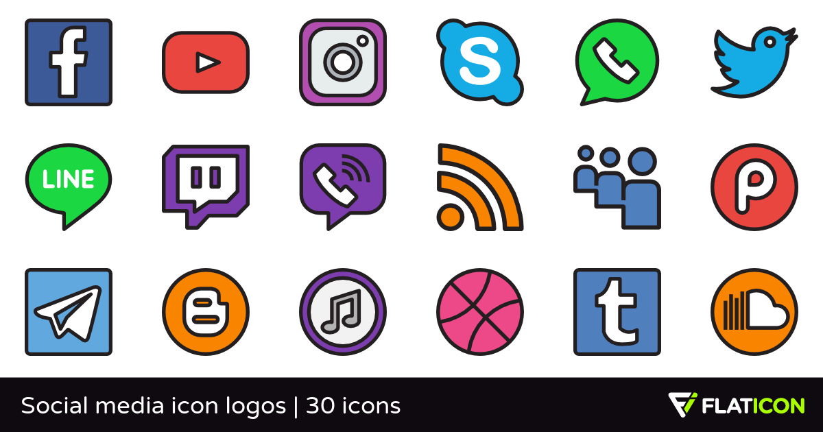 Social media icon logos 29 free icons