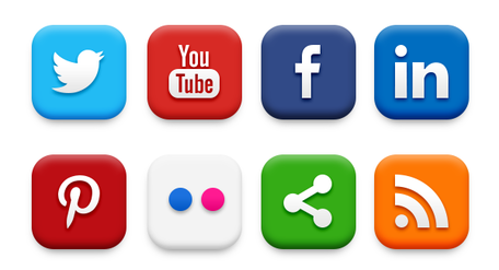 20 Popular Social Media Icons (PSD Hdclipartall.com
