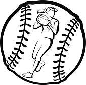 softball player; softball bat ...