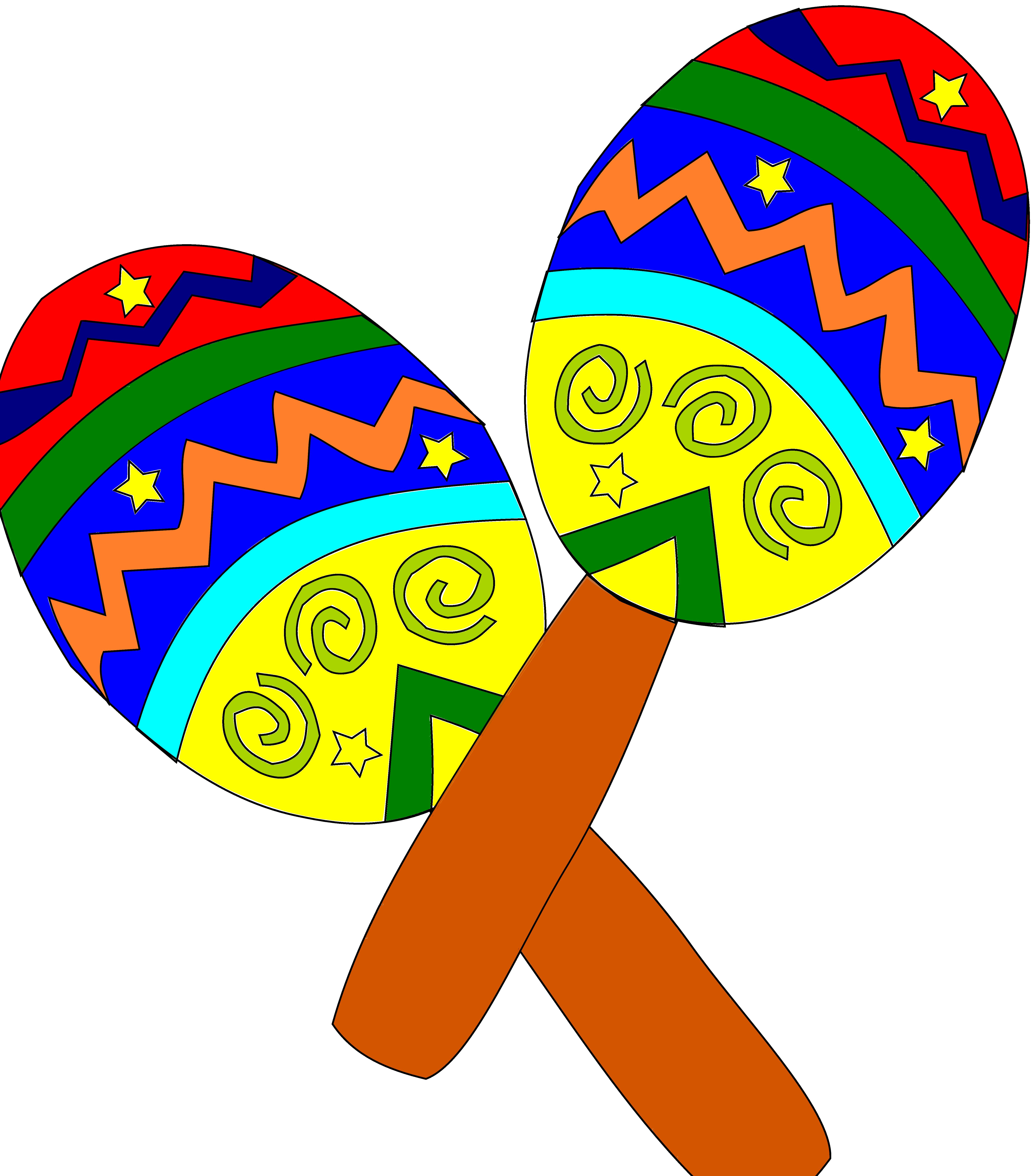 Sombrero And Maracas   Free Download Clip Art   Free Clip Art   on .