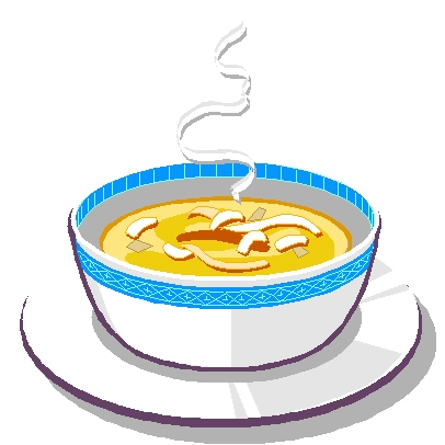 Soup And Sandwich Dinner Clipart #1