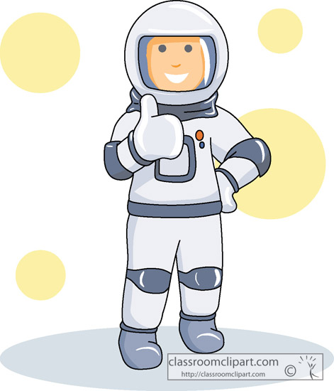 Space Astronaut In Space Suit Classroom Clipart