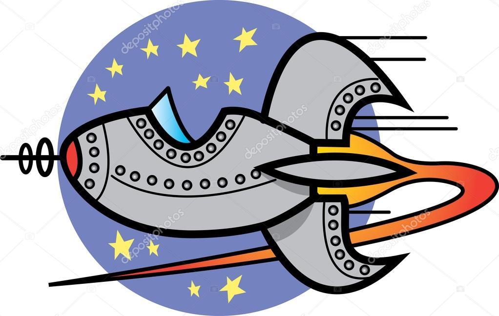 Space ship clip art u2014 Stock Vector #17457041