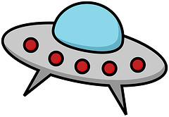 Spaceship cartoon space ships clipart