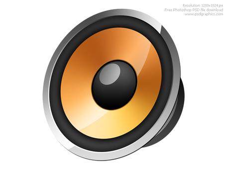 Speaker on abstract background; Speaker icon