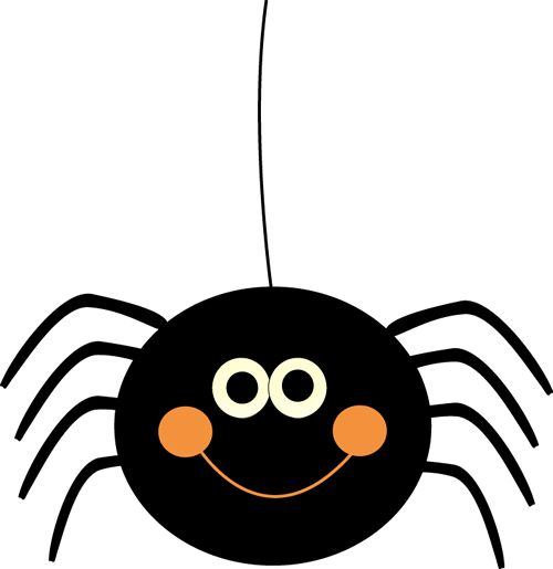 Cute Hanging Halloween Spider - Spider Clipart