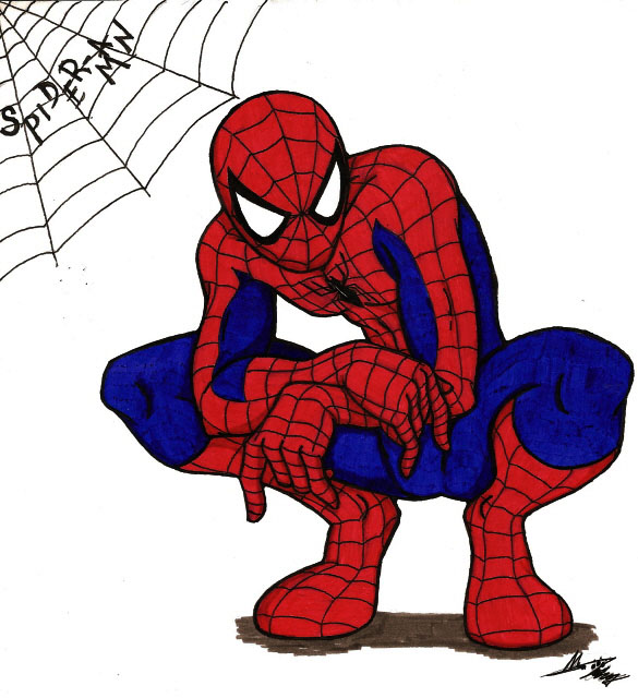 Free Spider Man Clipart #1