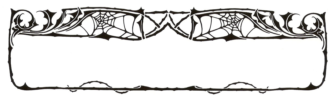 Art Nouveau Spider Web Border by Enchantedgal-Stock hdclipartall.com