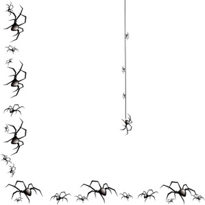 Halloween border spider web borders clipart 2
