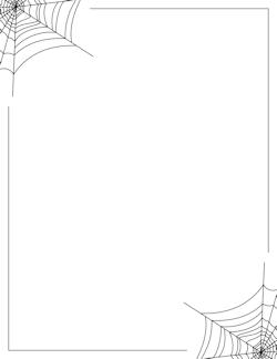 Spider Web Borders Clipart