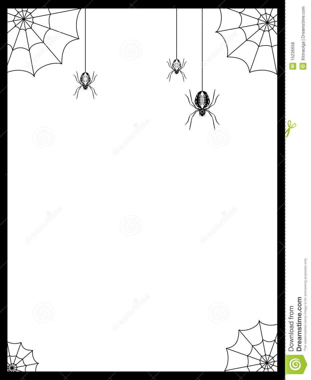 Spider Web clipart border #7