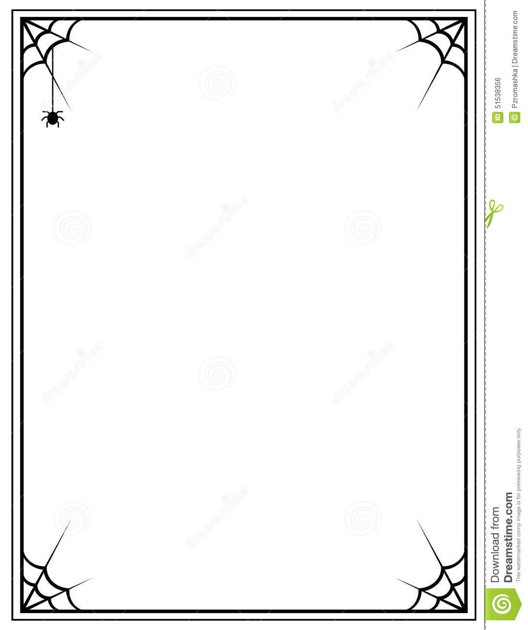 Spider Web clipart frame #4
