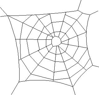 Spider web cliparts