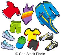 ... Sport clothes collection - isolated illustration.