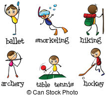 Different sports activity - Illustration of the different.