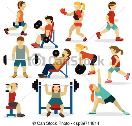 People at the gym(various sports activities) - csp39714814