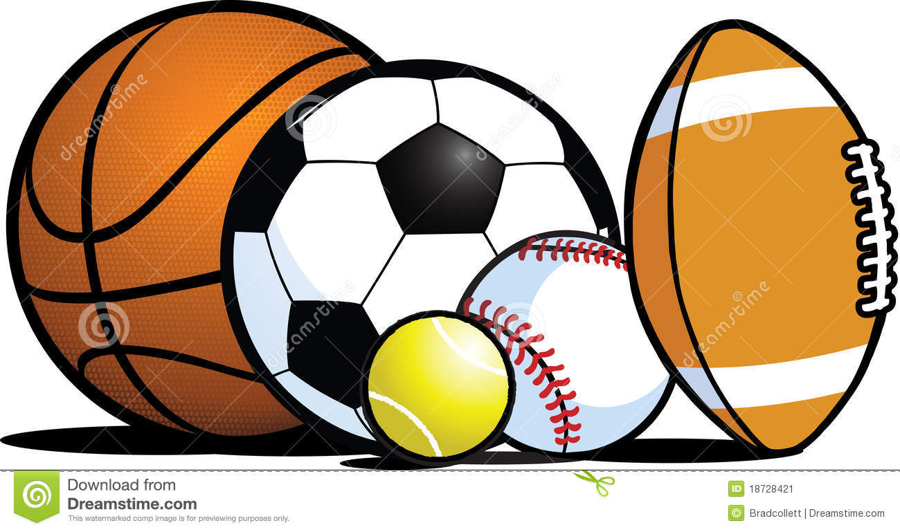Sports Balls Clipart #1 .