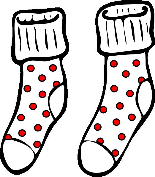 Spotty Socks Clip Art At Clker Com Vector Clip Art Online Royalty