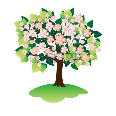 spring tree clipart