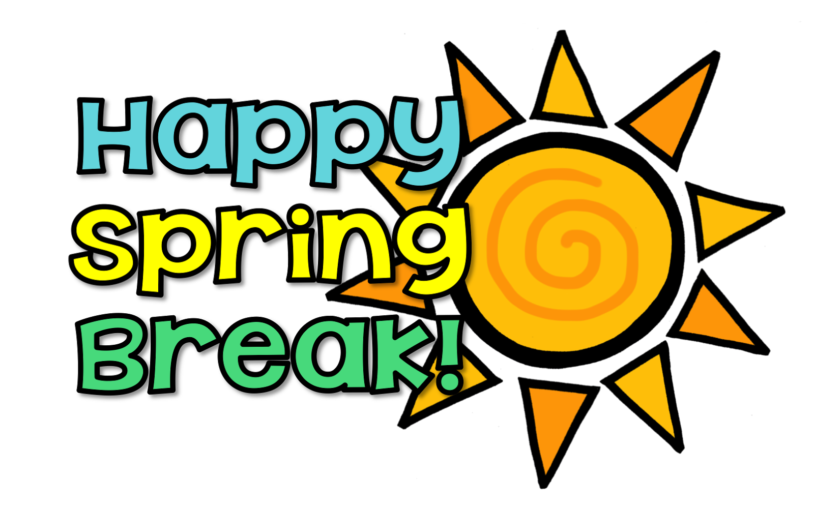 Spring break clip art 5